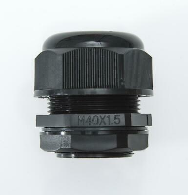 22-32mm, Cable Gland, M40, BLACK, Complete w/ Locknut & Washer, QTY: 1, 3, 5, 10
