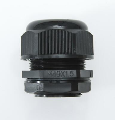 M40 Cable Gland, BLACK, IP68, 22-32mm, with Locknut & Washer, QTY: 1, 3, 5, 10