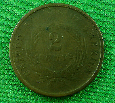 1864 two cents us  circulated