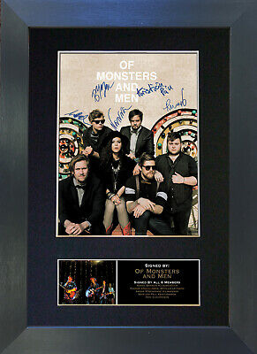 OF MONSTERS AND MEN Signed Mounted Autograph Photo Prints A4 282
