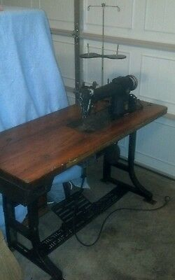 ANTIQUE VINTAGE INDUSTRIAL 241-12 SINGER SEWING MACHINE  100th ANNIVERSARY MODEL