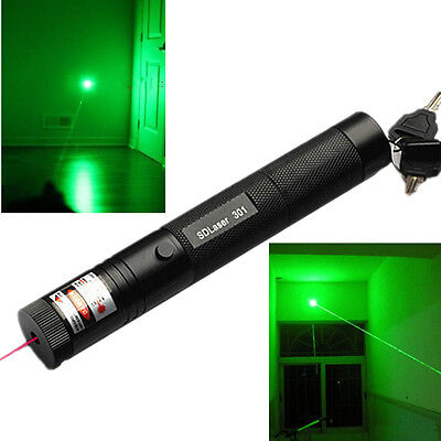 Military 10miles Green 5MW 532NM Laser Pointer Pen Lazer Light Visible Beam Burn