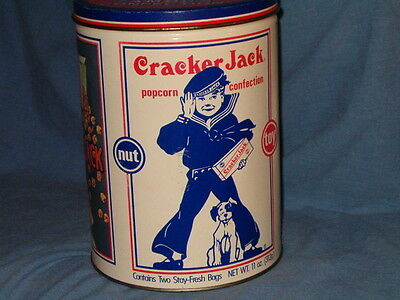 "Vintage Collectible 1990 Cracker Jack Round Tin Limited Edition 8"" High"