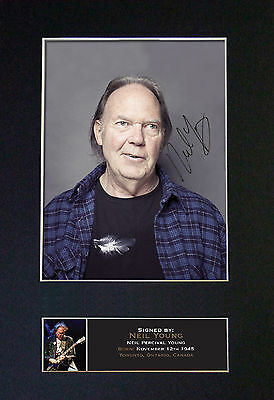 NEIL YOUNG Signed Mounted Autograph Photo Prints A4 391