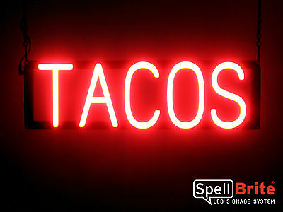 SpellBrite Ultra-Bright TACOS Sign Neon-LED Sign (Neon look, LED performance)