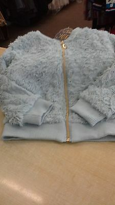 girls faux fur short jacket by knot so bad bnwt 100% polyester  2-8yrs.
