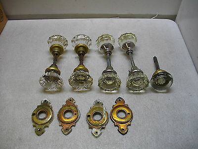 9 Vintage Glass Door Knobs
