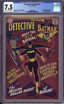 Detective Comics #359 Cgc 7.5   Ow White Pages  1St Batgirl!  Barbara Gordon!