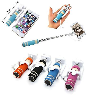 Mini Selfie Stick Monopod Wired Foldable Mobile Holder iPhone 6 6s 7/Plus 5 5s