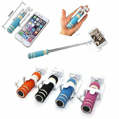 Mini Selfie Stick Monopod Wired Foldable Mobile Holder iPhone 6 6s 5 5s