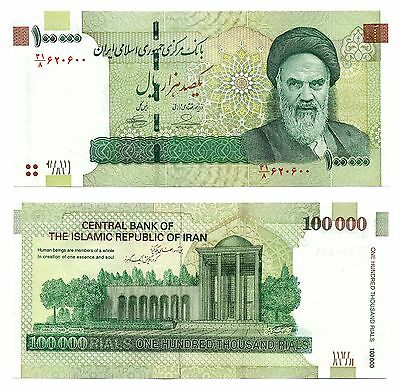 Iran 100000 Rials P151 AUTHENTIC UNCIRCULATED CURRENCY  US FAST SHIP W/ TRACKING