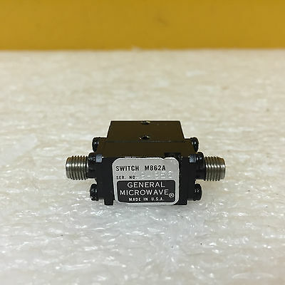 General Microwave M862A (OPT. 411) 0.1 to 18 GHz, SMA (F) SPST Switch