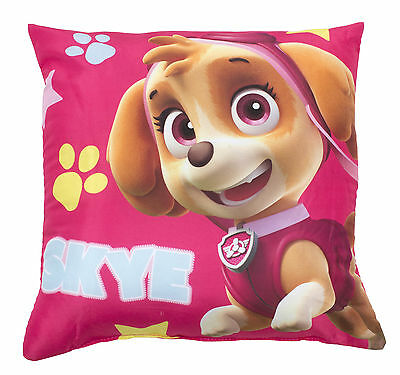 Paw Patrol 'stars' Skye 2 Designs In 1 Reversible Cushion 100% Official New Kids