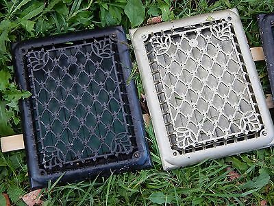 "ANTIQUE CAST IRON FLOOR WALL VENT GRATE HEAT REGISTER 11 x 14"" Top Grill"