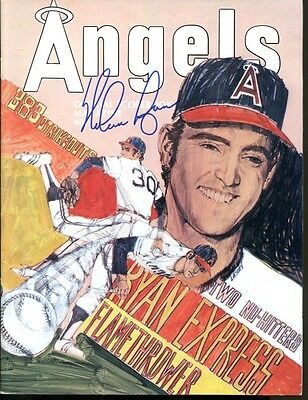 Nolan Ryan Signed 1974 Angels Program Autographed PSA/DNA AC32677