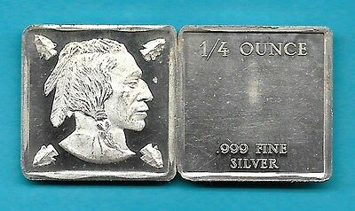 Indian Head .999 Silver Art Bar