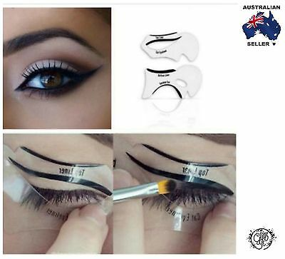 2 Piece Top Bottom Eyeliner Stencil Smokey and Cat Eye Shaping Liner Makeup