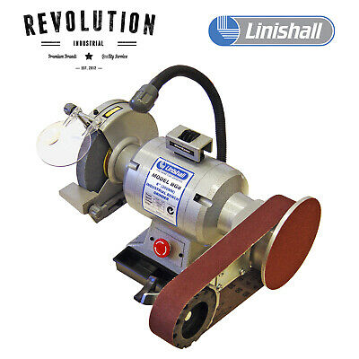 """8"""" (200mm) Linishall Bench Grinder With Linishing attachment - BG8/915"""