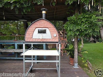 Wood fired pizza oven 70x70 Pizza Party ORIGINAL! BRONZE + Door with glass