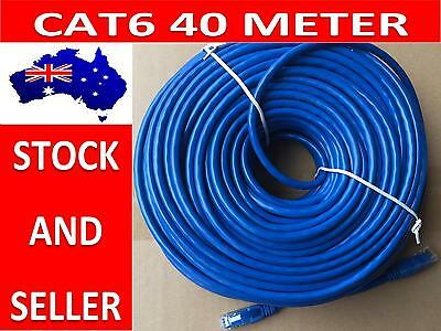 40m Cat6 Ethernet Network LAN Cable Patch Lead With RJ45 Connector At Each End