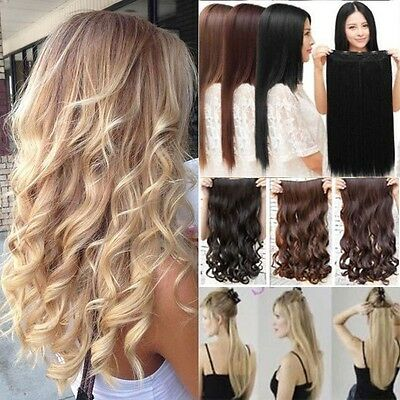 UK Seller One Piece 3/4 Full Head Clip in Hair Extension Real As Remy Human kcma