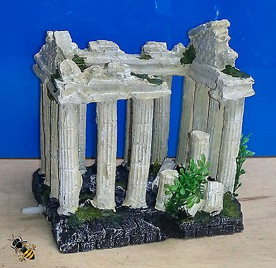 Aquarium Ornament Ancient Columns Airstone Bubble Fish Tank Decoration New