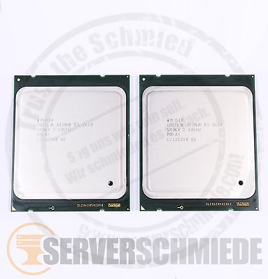 2x Intel XEON E5-2670 SR0KX Octa Core CPU 8x 2,60 GHz 2011 Matched Pair