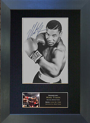 MIKE TYSON Signed Mounted Autograph Photo Prints A4 51