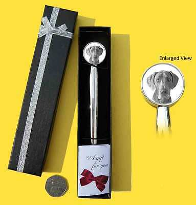 Great Dane Dog Chrome Plated Letter Opener Boxed with Gift Tag