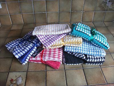 3 Pack Large Tea Towels Top Quality100% Cotton Terry Highly Absorbant 7 Colours