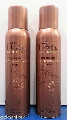 TANNING FOR ISRAEL 2 THAT'SO SUN MAKE-UP SPRAY TAN whit DHA color DARK 125ml.