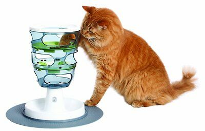 Cat Feeder Toy Maze Food Game Difficulty Levels Bottom Plate Healthy Digestion