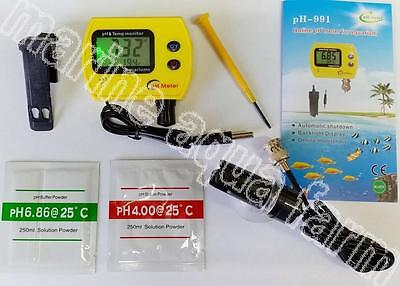 Aquarium Digital Ph & Temperature Monitor, Reef Marine Tropical Fish Tank