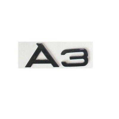 """Gloss Black """" A 3 """" Trunk Rear Letters Words Badge Emblem Sticker for Audi A3"""