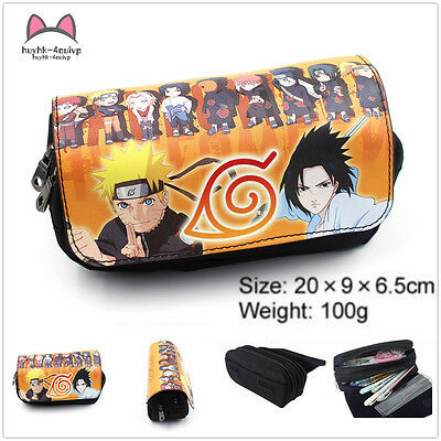 NARUTO cosplay Purse Makeup Cosmetic Brush Travel Bag Case Pen Pencil Pouch