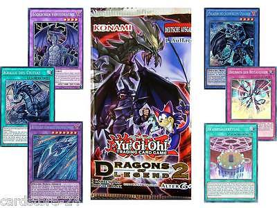 YuGiOh Dragons of Legend 2 DLG2 Booster Bags Hologram Cards can be selected YGO