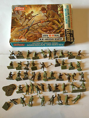 Airfix 01729 W.w.1 American Infantry Serie Completa 48 Pezzi Scatola Scala H0