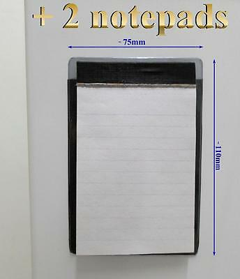 Rechargable fridge magnet memo notepad holder + 2 X 50 pages notepads reminder