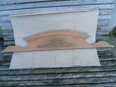 antique french large pediment xix th wood ribbon louis xvi