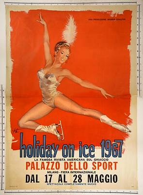 HOLIDAY ON ICE IN MILANO, poster 1967 - 100x140 cm