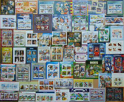 800 all different beautiful MINI SHEETS and SOUVENIR SHEETS Composition Lot