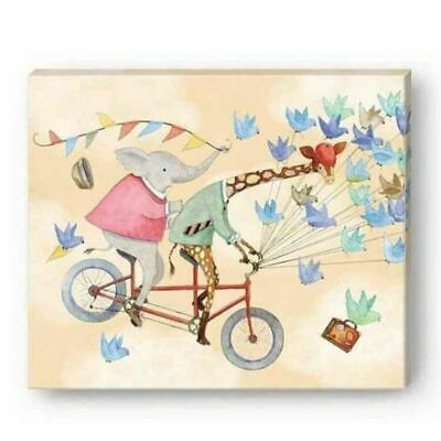 Punch Studio Home Decor Childrens Canvas Wall Art Up Up & Away Bicycle