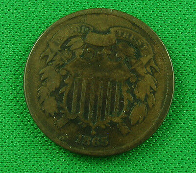 1865 two cents us  circulated
