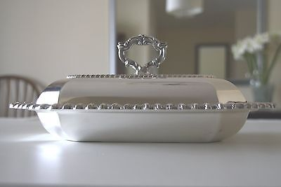 Further Reduction - Silverplate Two Piece Covered Entree Dish Removable Handle