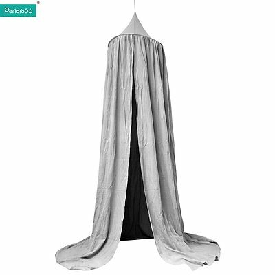 Canopy Bed Netting Mosquito Bedding Net Baby Kids Reading Play Tents Cotton Grey