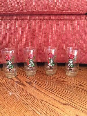 4 Coca Cola Holly Hobbie Glasses Christmas is a Gift of Joy Limited Edition
