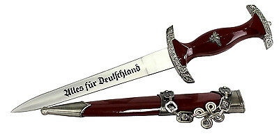 "15.5"" Collectible Burgundy Dagger Stainless Steel with Sheath Knife Sword"