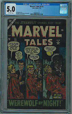 Marvel Tales #116 Cgc 5.0 Very Hard To Find Off-White Pages Golden Age