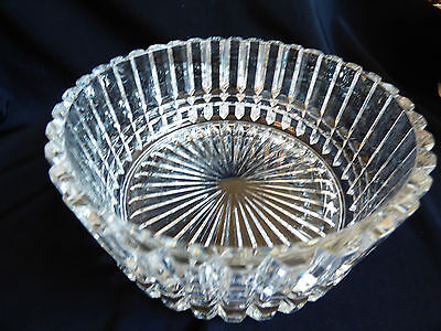 """24% Lead clear Cristal D'Arques France Monument 9"""" Bowl with box"""