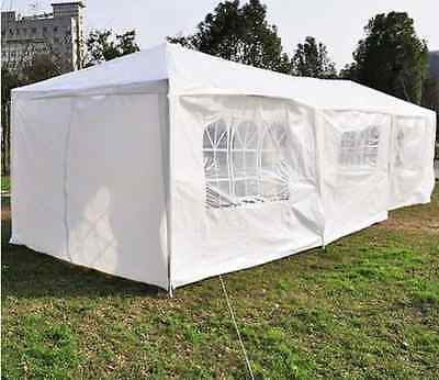 White - Outsunny Party Tent 10ft x 30ft 840-056WT 2/2 ZY2511